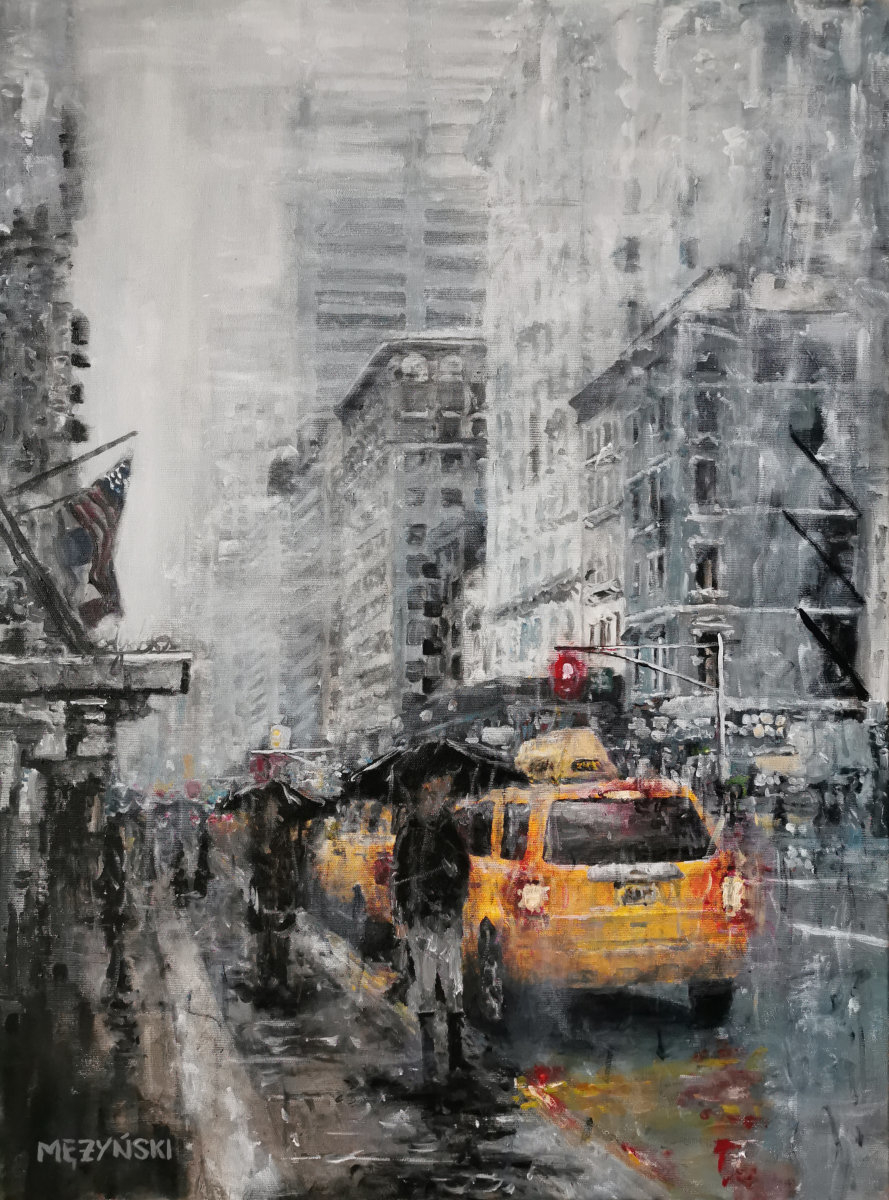 New York: Rainy day
