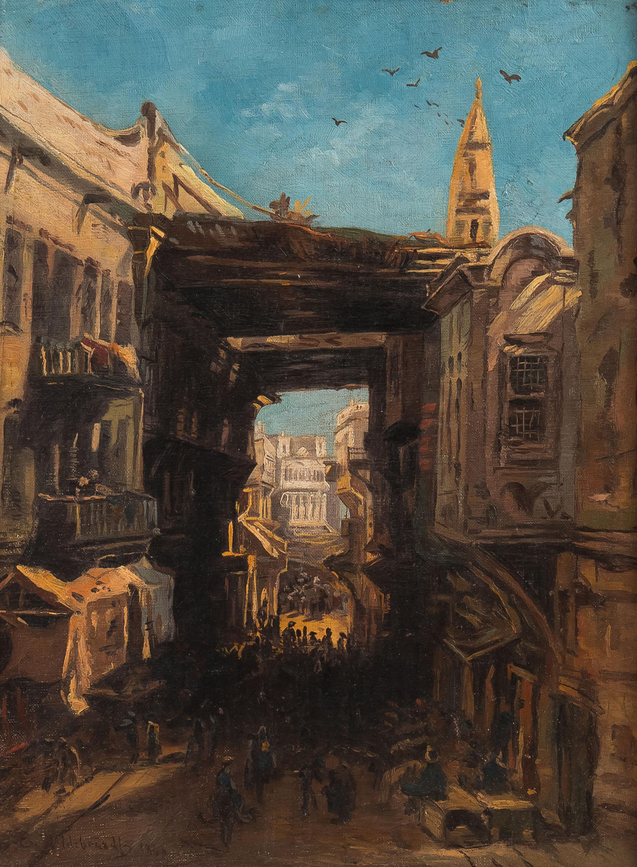 Bazar w Kairze, 1860 r.