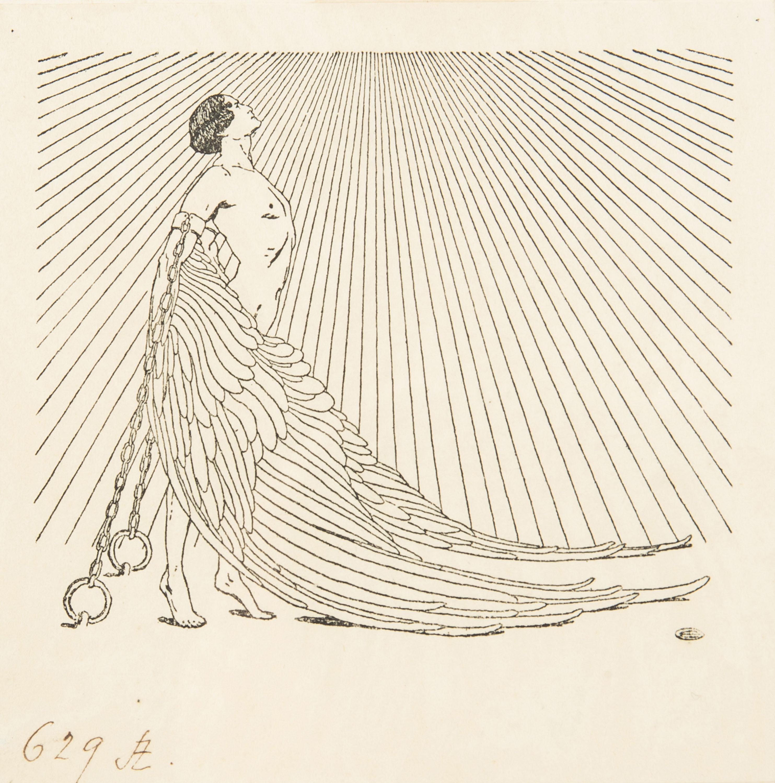 Prometeusz. Ex libris Stefana Żeromskiego, 1909 r.
