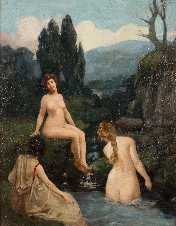 Kąpiące się kobiety