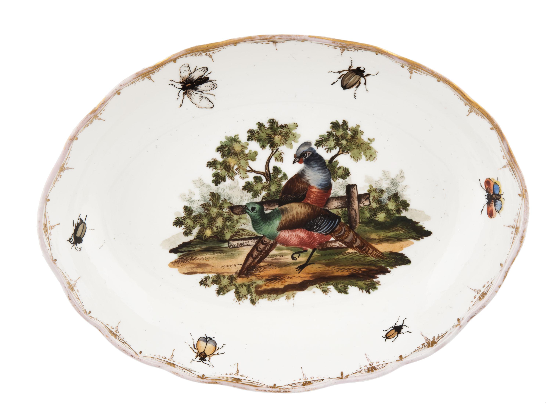 Paterka z pawiami i owadami, Miśnia, k. XIX w.