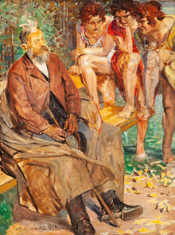 Starzec i muzy, 1900