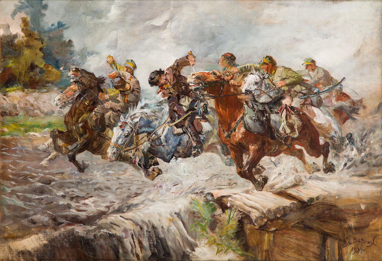 """""""Masakra kawalerii rosyjskiej"""", 1925"""