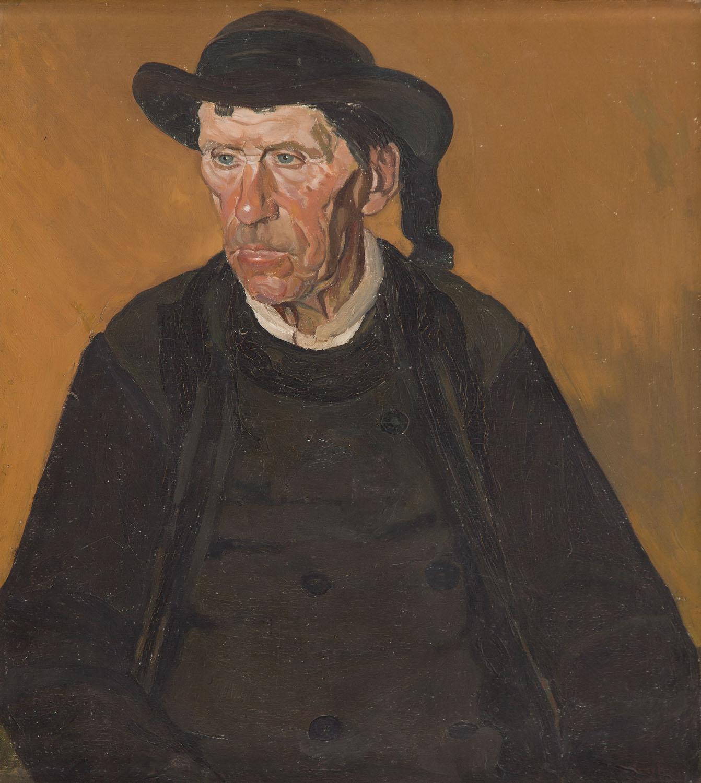 Portret mężczyzny w czarnym surducie