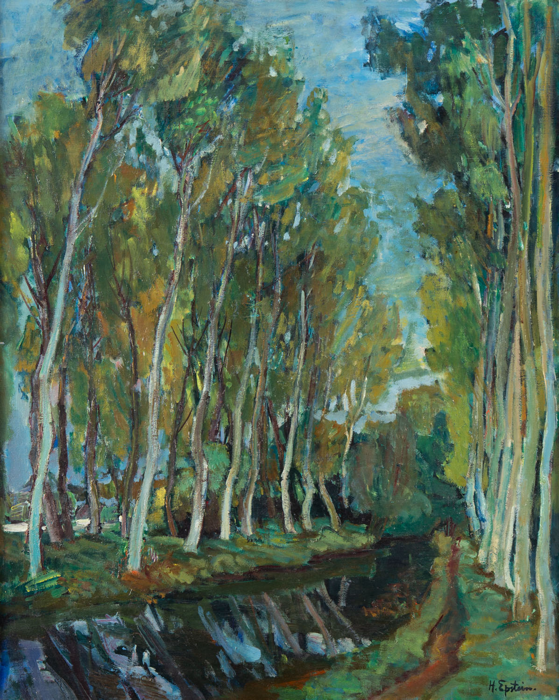 Pejzaż ze strumieniem, 1935-1940