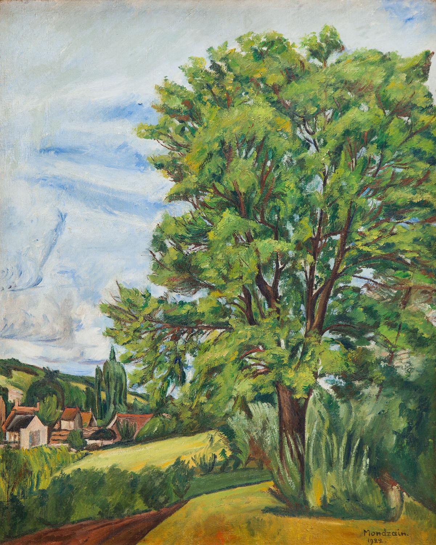 Pejzaż z drzewem, 1922