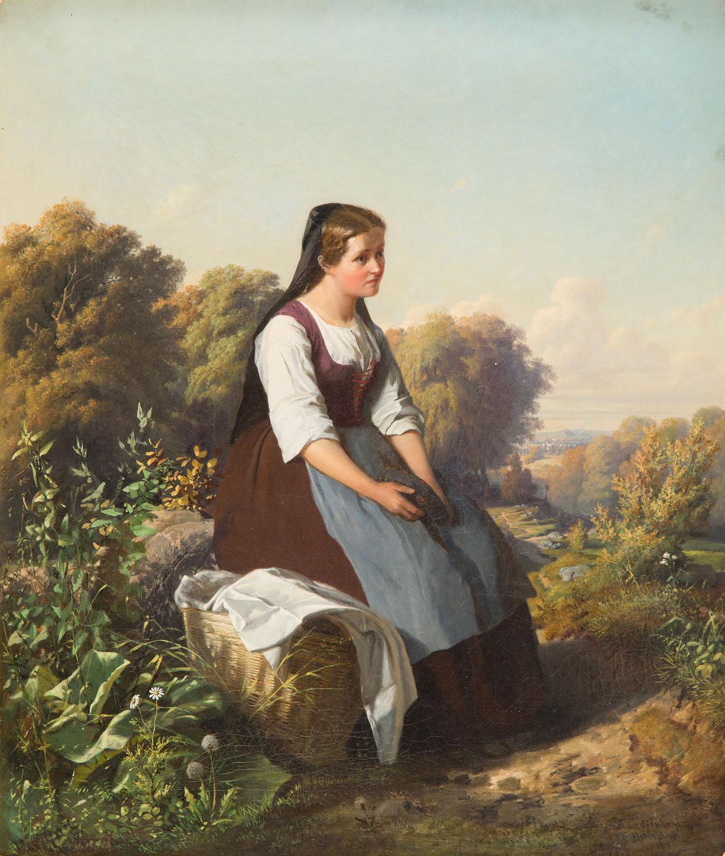 Dziewczyna z koszem, 1875