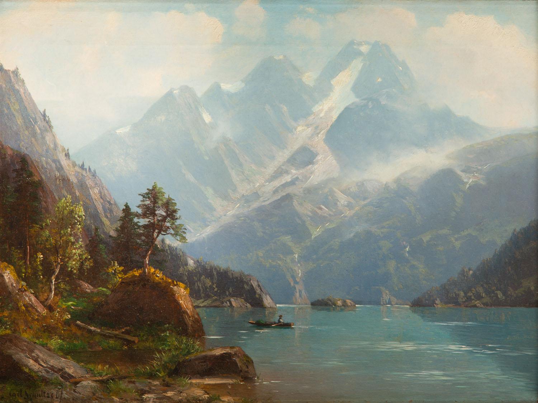 Pejzaż z górskim jeziorem, 1907