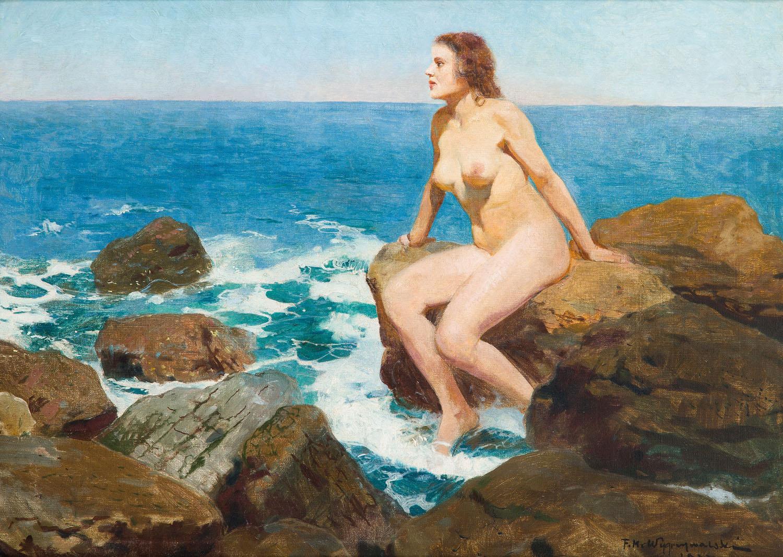 Dziewczyna na skale, 1922