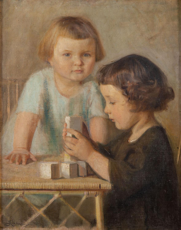 """""""Dzieci z klockami"""", 1928"""