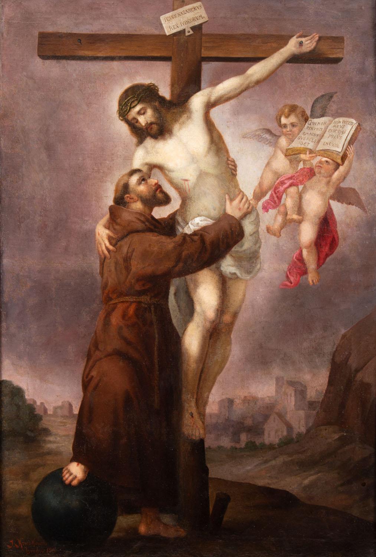 Święty Franciszek z Ukrzyżowanym Chrystusem, 1918