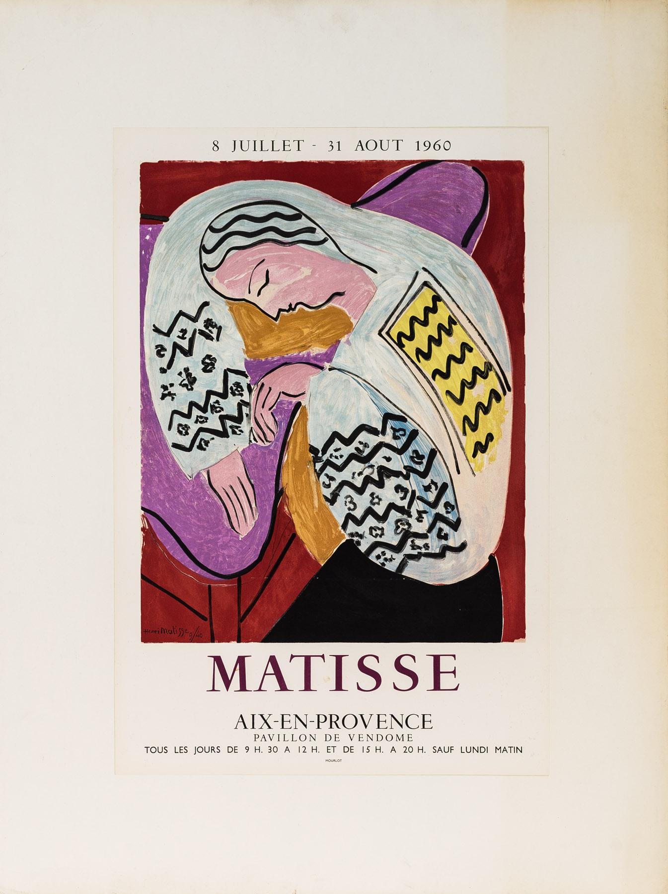 Matisse, Aix-En-Provence, 8 Juillet-31 Aout 1960