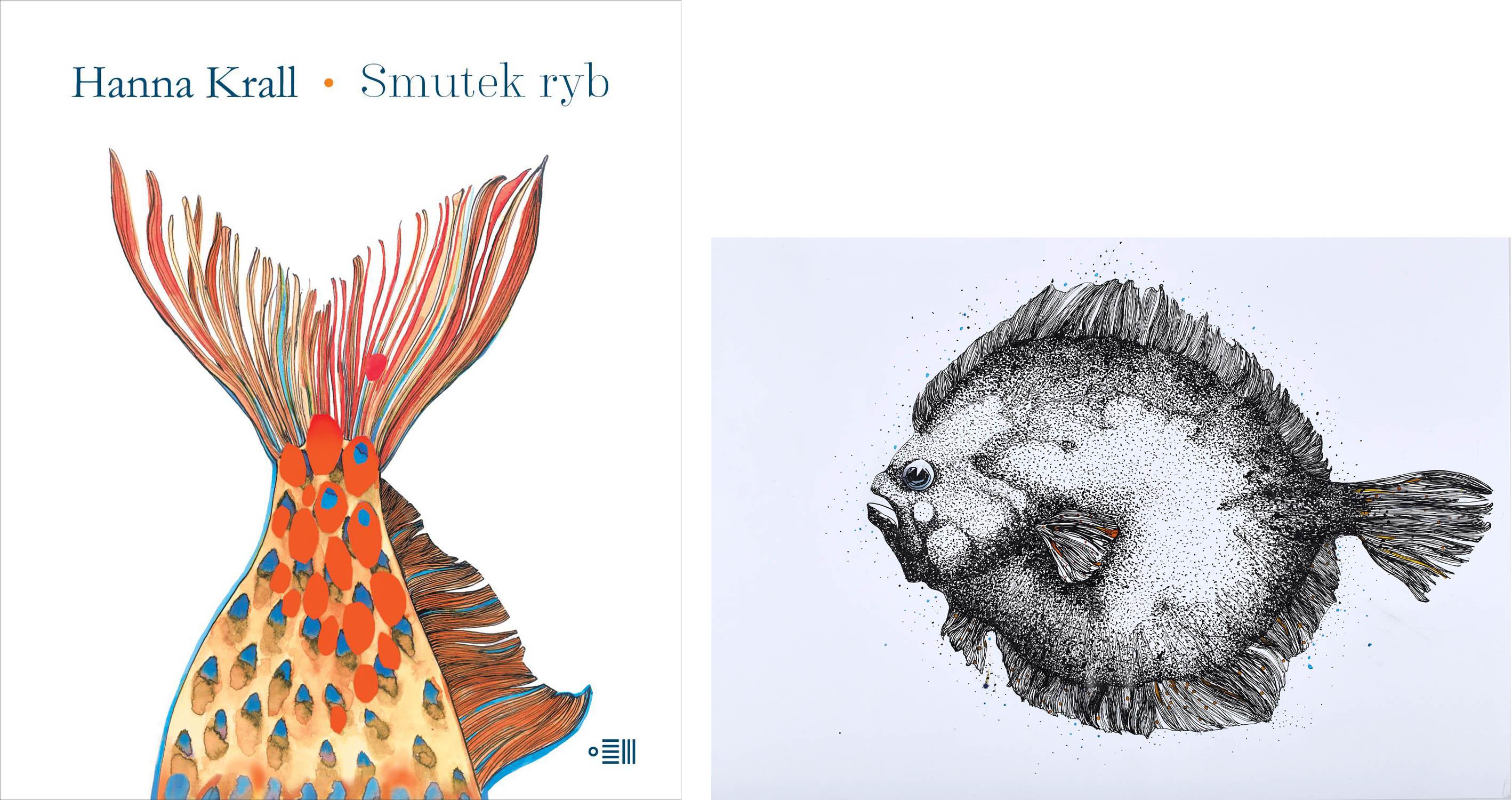 """""""Smutek Ryb"""" dwie ilustracje"""