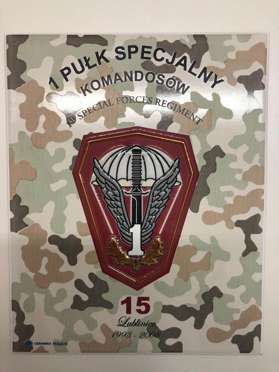 Upamiętnienie 1 Pułku Specjalnego Komandosów z 2008 r.