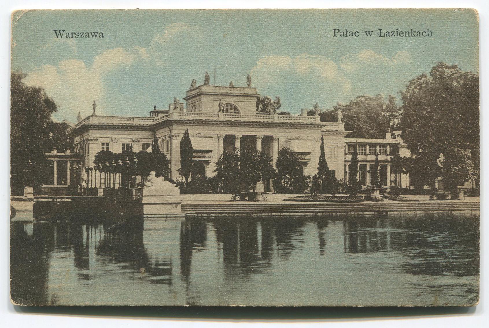 Pałac na Wyspie w Łazienkach Królewskich, przed 1914 r. (?)