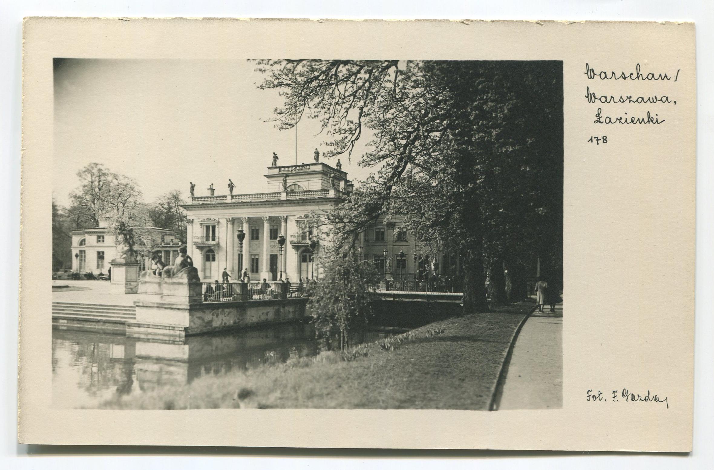 Pałac na Wyspie w Łazienkach Królewskich, przed 1939 r.