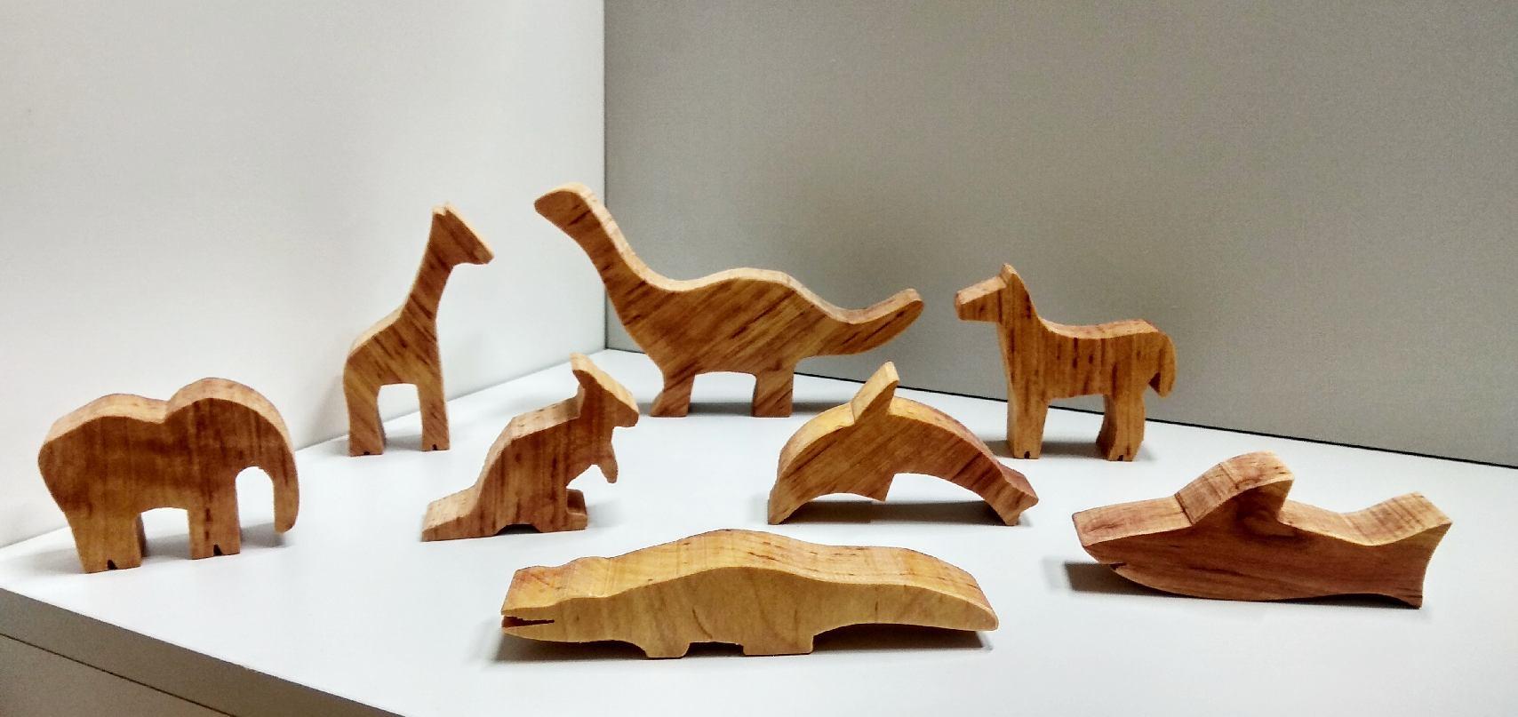 Zwierzątka - zestaw drewnianych zabawek, 2020