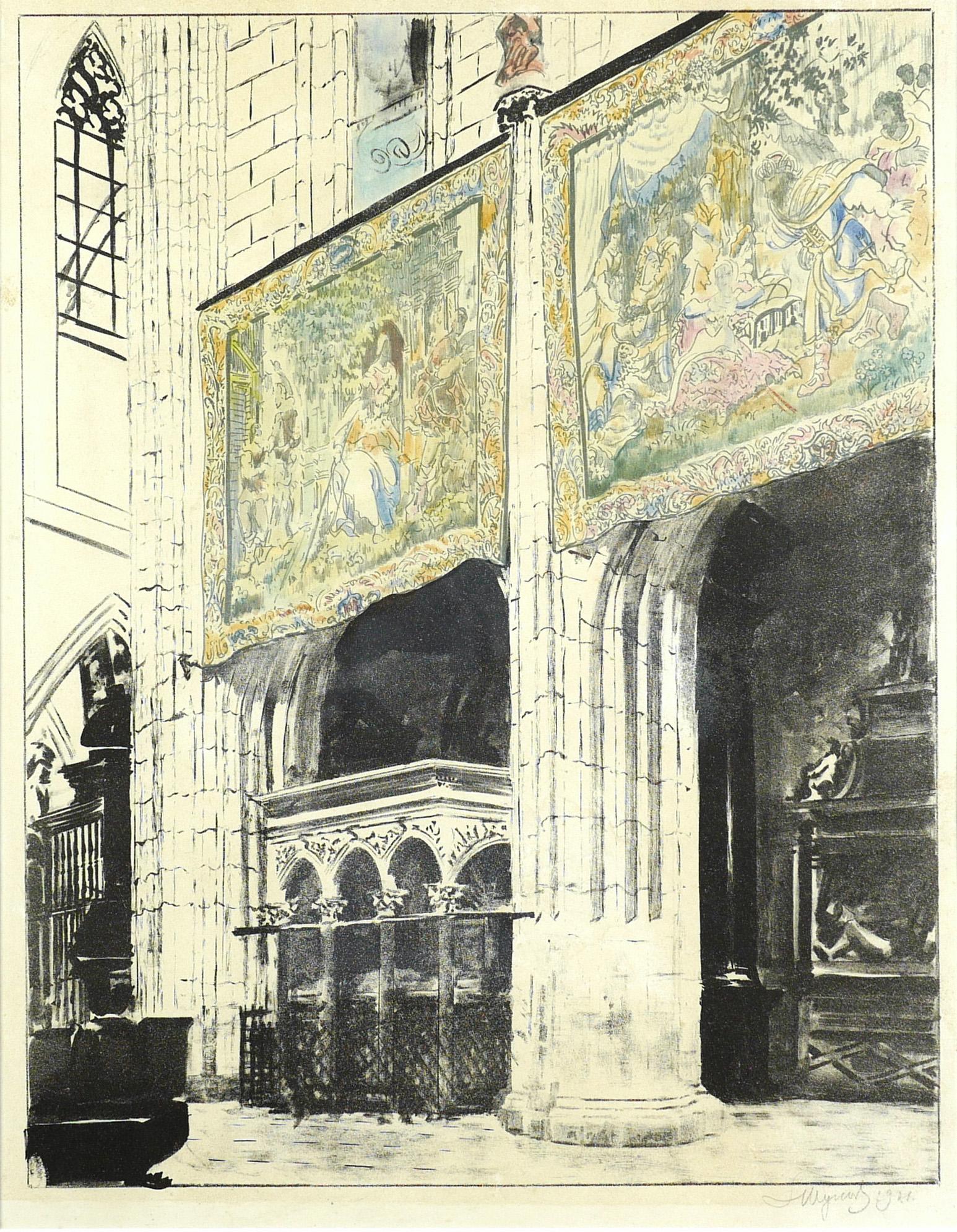 Arrasy w Katedrze Wawelskiej, 1921 r.