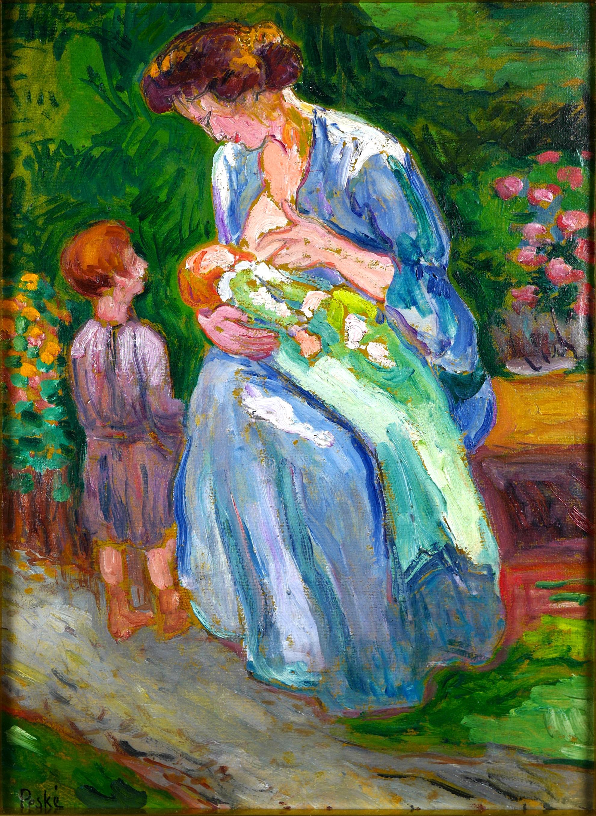 Macierzyństwo - Żona artysty z dziećmi, ok 1909 - 1910 r.
