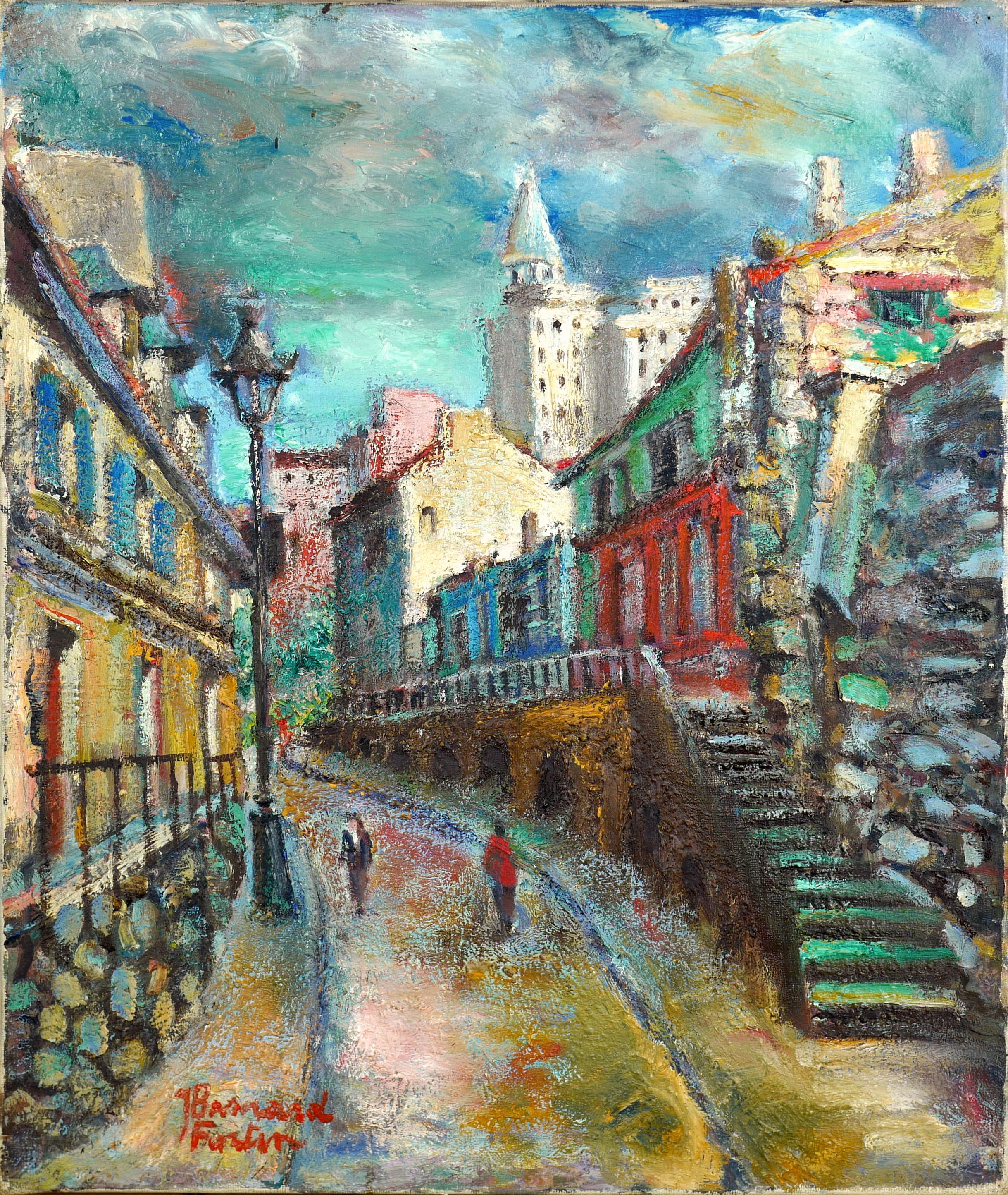Miejska uliczka, ok 1936 - 1938 r.