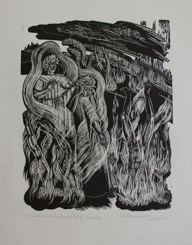 """XIX Ilustracja do """"Boskiej komedii"""" Dantego. Piekło (1940)"""
