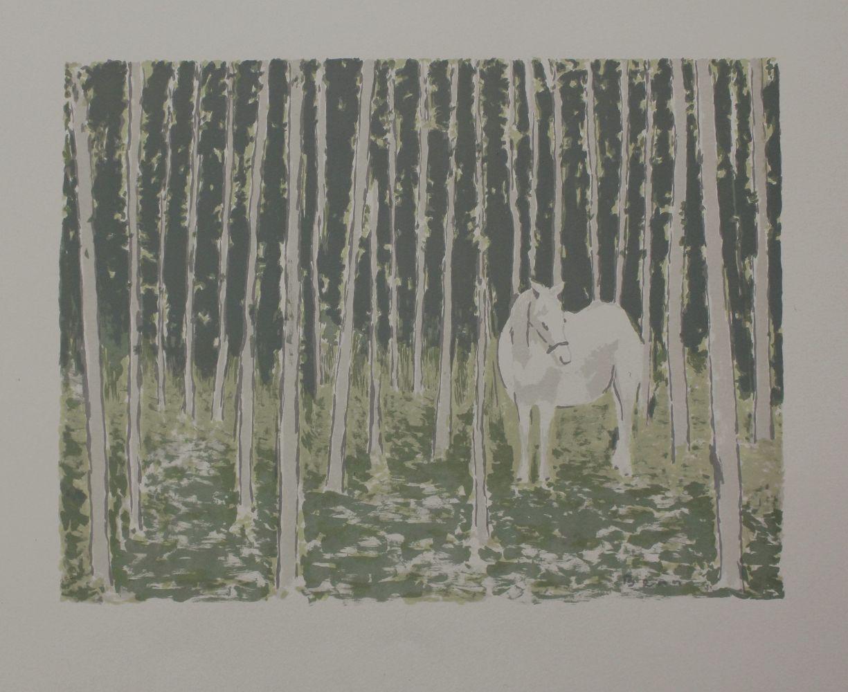 """Biały koń (z teki """"BENN. 14 litographies originales en couleurs"""", 1964)"""