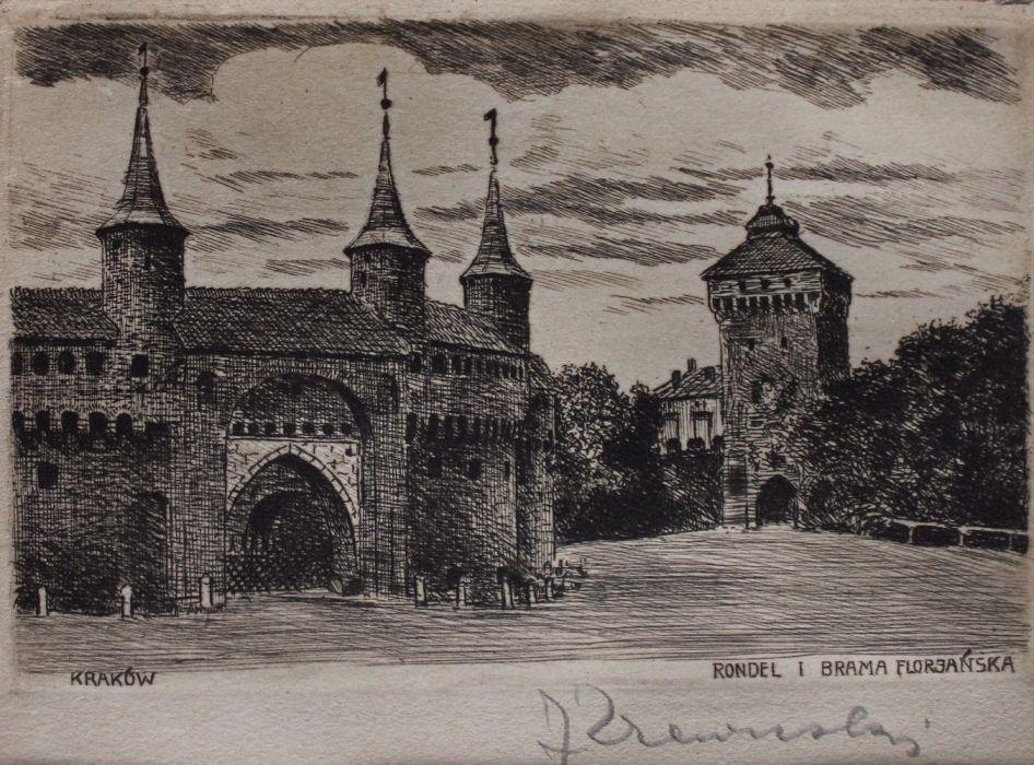 Kraków. Rondel i Brama Floriańska
