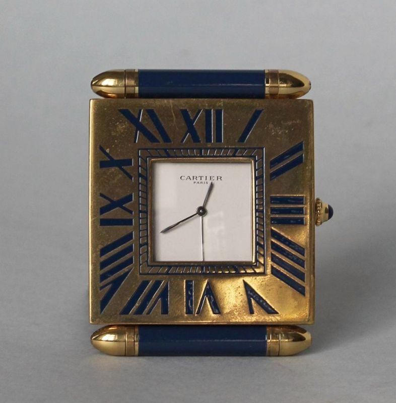 Zegarek podróżny w etui (Francja, ok.poł. XX w.)