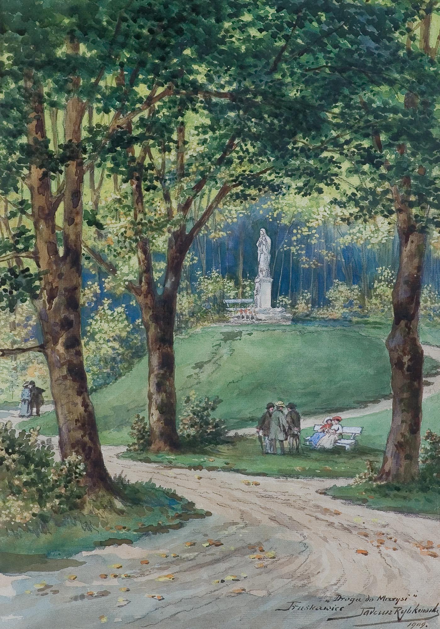 DROGA DO ŹRÓDŁA MARYSI W TRUSKAWCU, 1909