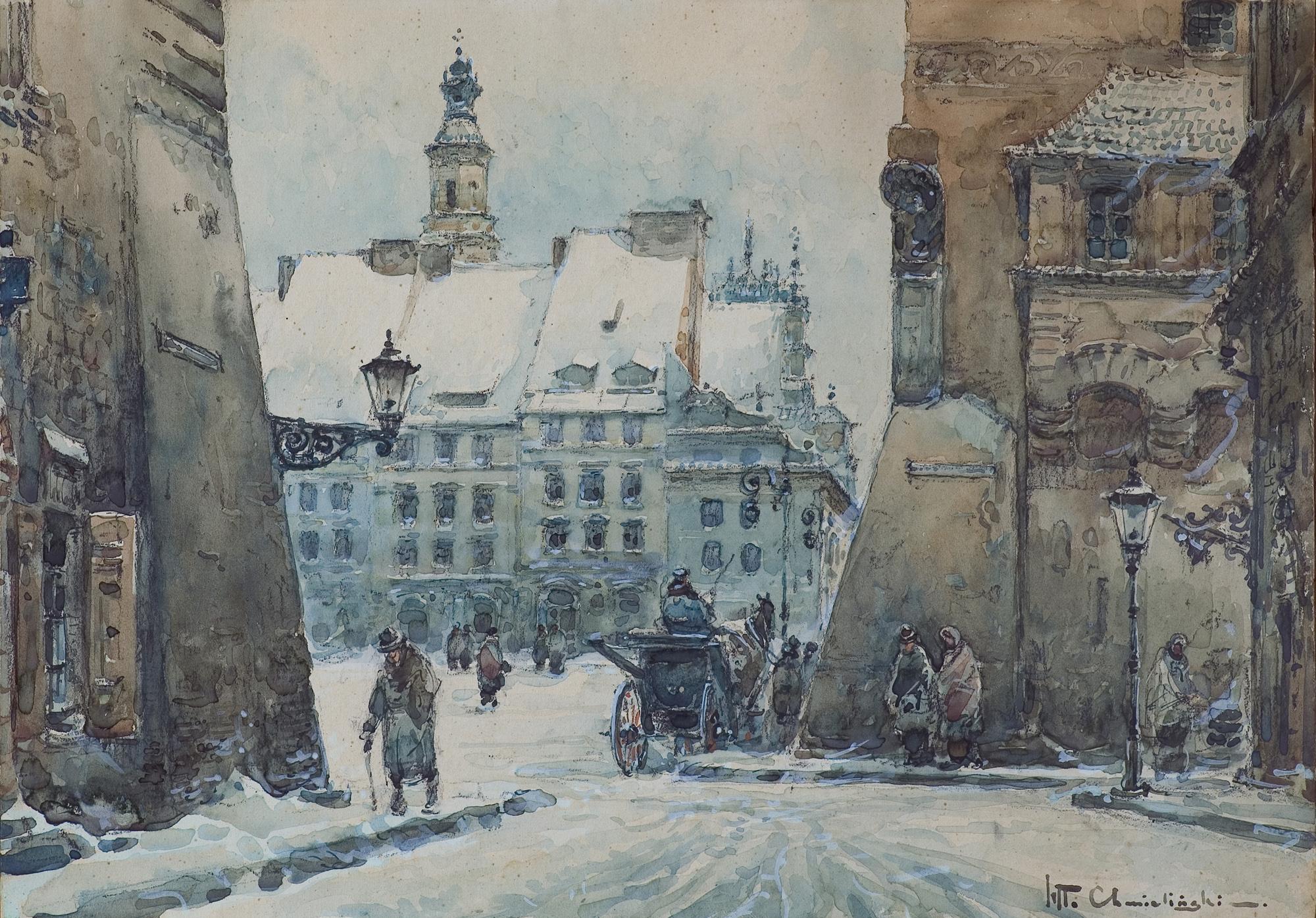 WIDOK RYNKU STAREGO MIASTA, PRZED 1947