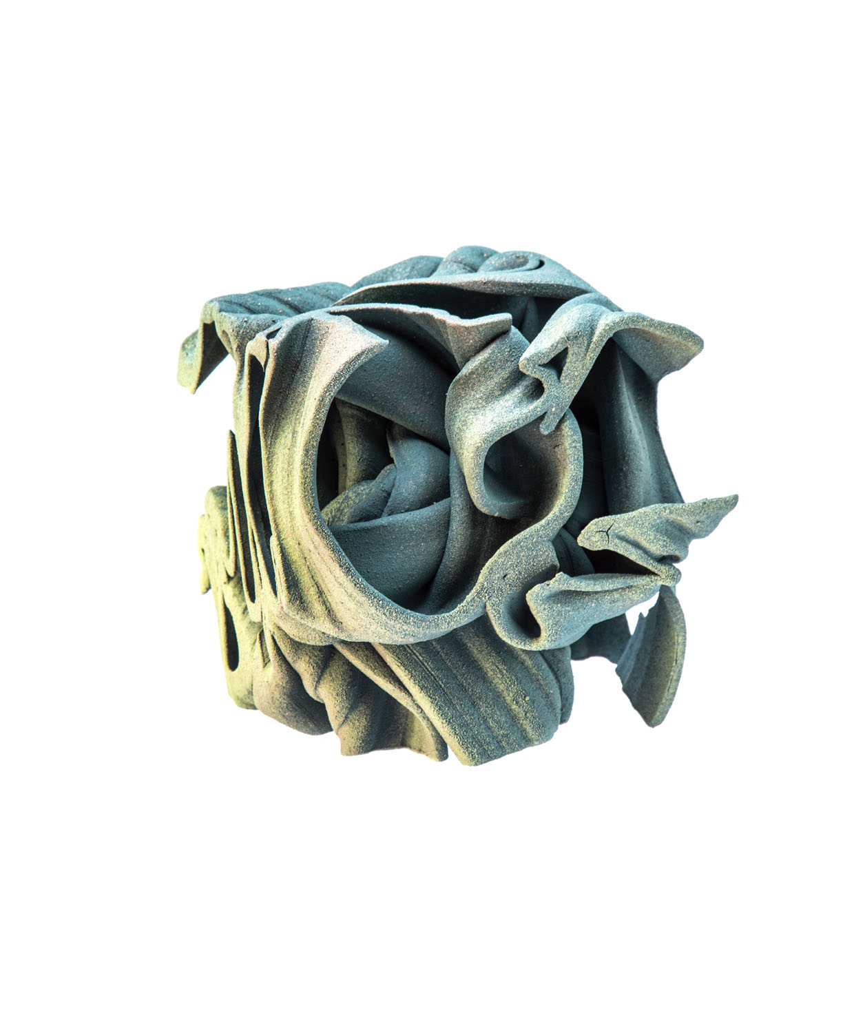 Z serii 'Cube', Green structure, 2020