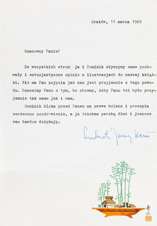 List Ludwika Jerzego Kerna do Zbigniewa Rychlickiego, 1965