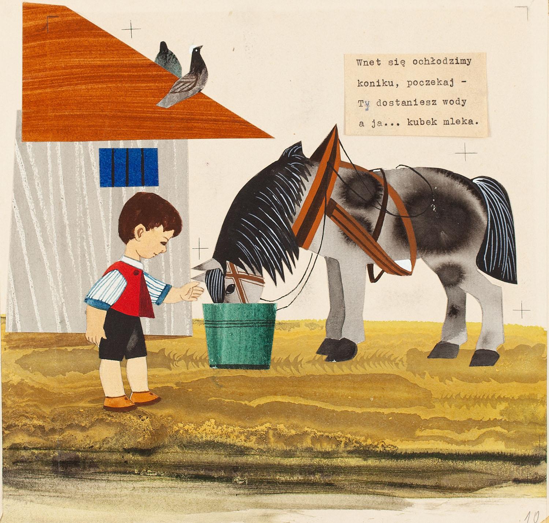 """Na wsi"", ilustracja, 1960"