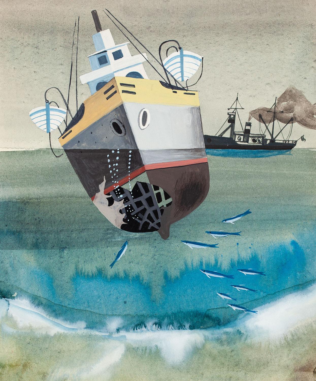 """Statek"", ilustracja"