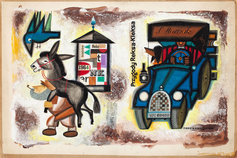 """Przygody Reksa - Kleksa"", projekt okładki, 1964"