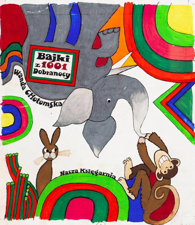 """""""Bajki z 1001 Dobranocy"""", projekt okładki, 1972"""