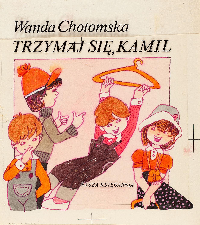 """""""Trzymaj się, Kamil"""", projekt okładki, 1981"""