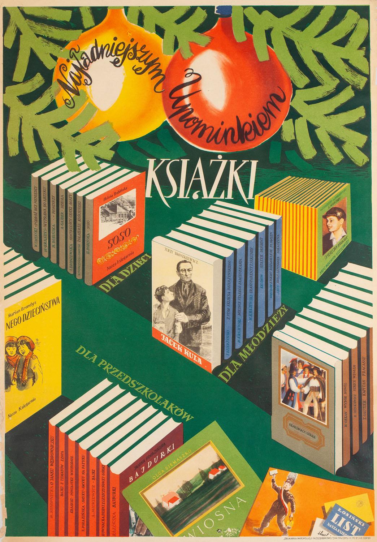 """""""Najlepszym upominkiem książki"""", plakat, 1952"""