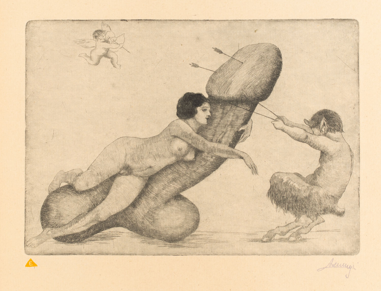 Nierozpoznany francuski grafik, XIX/XX w.