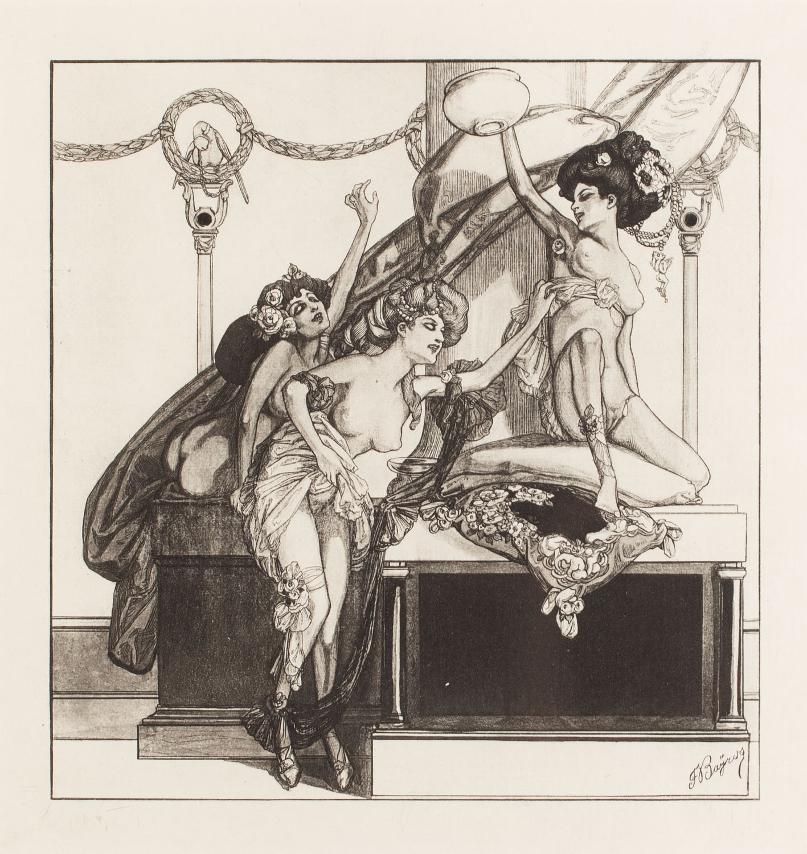 """Plansza IV z teki """"Im Garten der Aphrodite"""""""