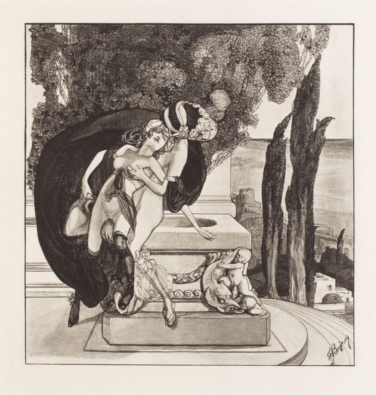 """Plansza V z teki """"Im Garten der Aphrodite"""""""