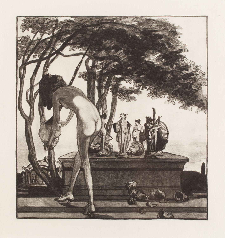 """Plansza VII z teki """"Im Garten der Aphrodite"""""""