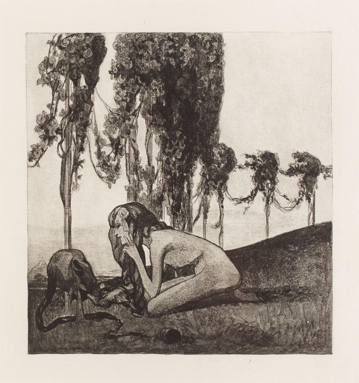 "Plansza XV z teki ""Im Garten der Aphrodite"""