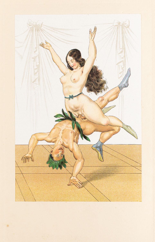"Akrobaci z wydawnictwa ""Vierzig erotische Aquarelle in Faksimilereproduktion"""