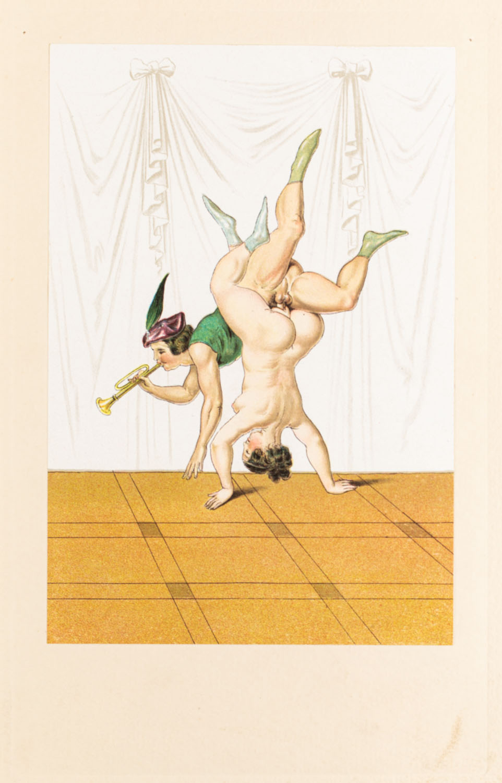 "Akrobaci III z wydawnictwa ""Vierzig erotische Aquarelle in Faksimilereproduktion"""