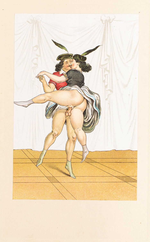 "Akrobaci V z wydawnictwa ""Vierzig erotische Aquarelle in Faksimilereproduktion"""