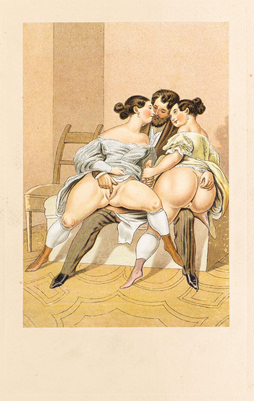 """W buduarze z wydawnictwa """"Vierzig erotische Aquarelle in Faksimilereproduktion"""""""