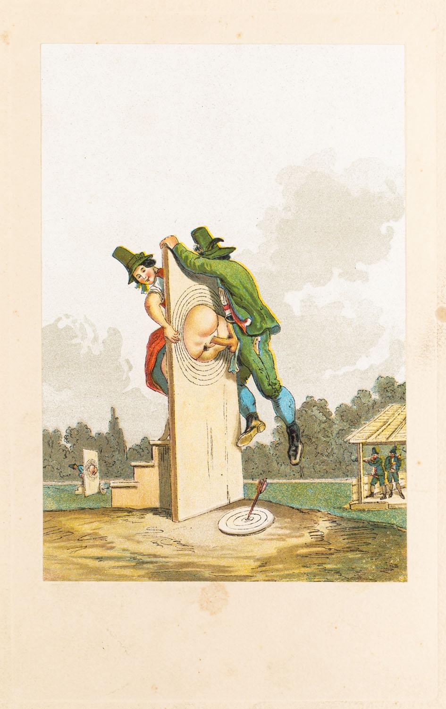 "Tarcza z wydawnictwa ""Vierzig erotische Aquarelle in Faksimilereproduktion"""