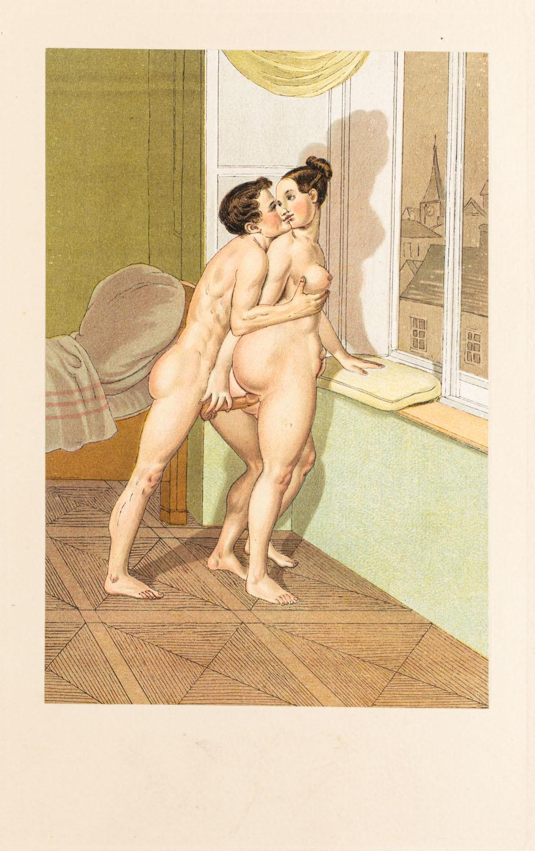 "Cień z wydawnictwa ""Vierzig erotische Aquarelle in Faksimilereproduktion"""