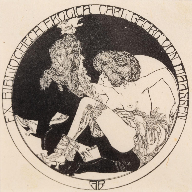 Exlibris erotyczny (Carl Georg von Maassen)
